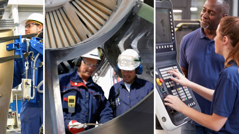 manufacturing industry collage
