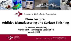 Additive Manufacturing and Surface Finishing - The 53rd William Blum Lecture