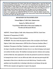 NHTSA Distracted-Driving Guidelines for Portable Electronics