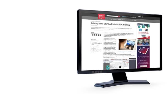 Gardner Native Advertising on computer screen