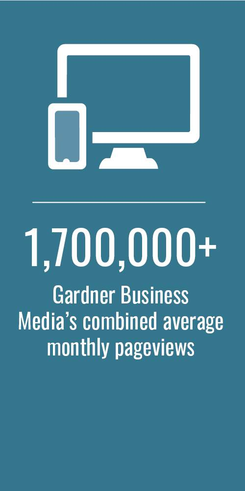 1,700,000+ - Gardner Business Media's Combined Monthly Pageviews