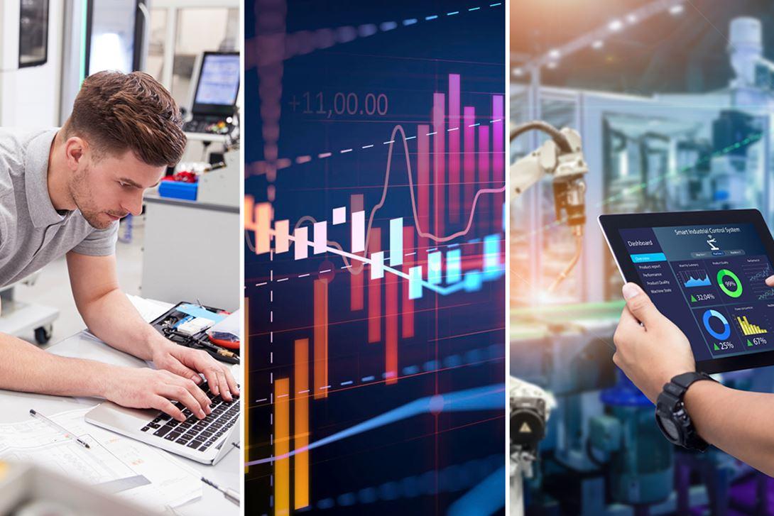 Manufacturing Market Intelligence Photo Collage