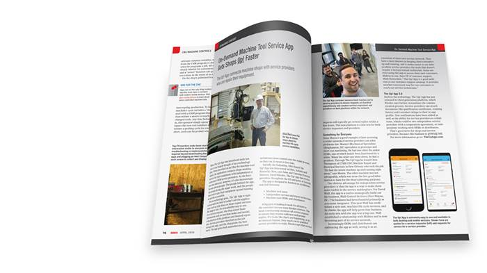 Gardner Business Media Magazine Spread with Advertorial Article