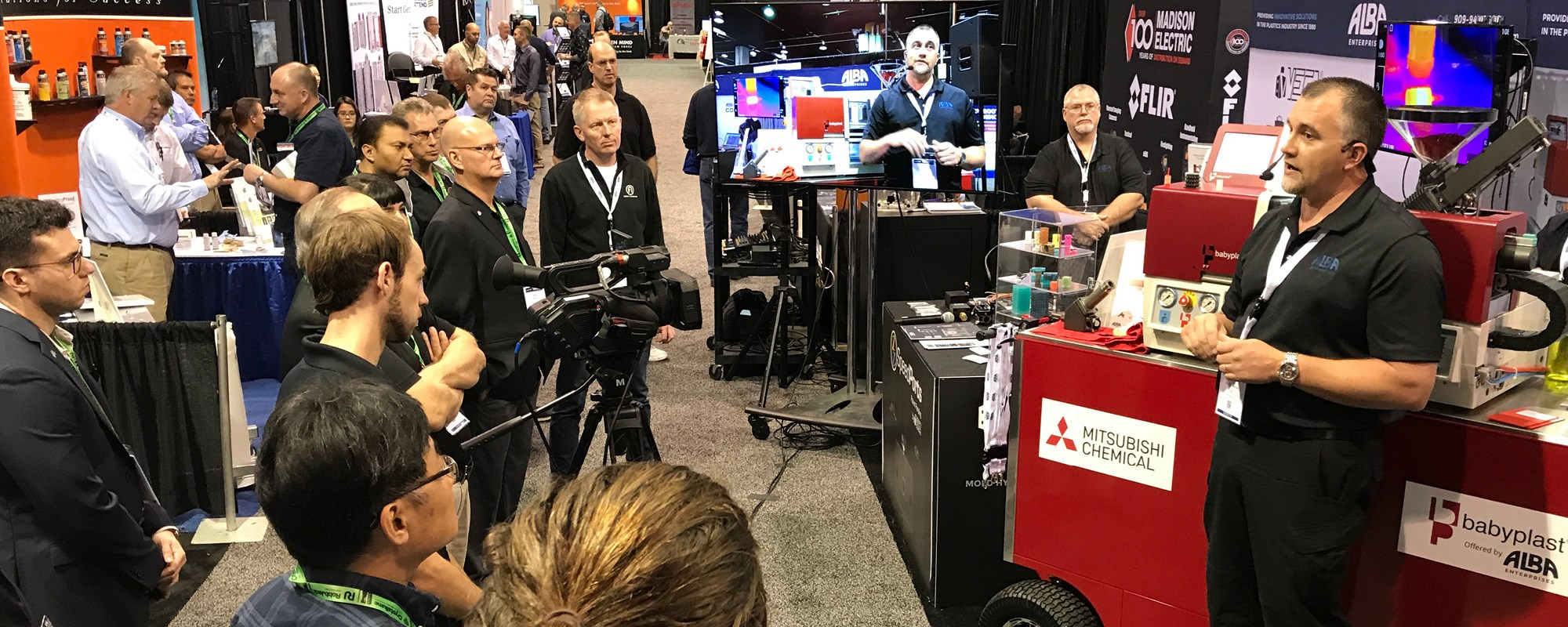 Attendees on the Amerimold show floor.