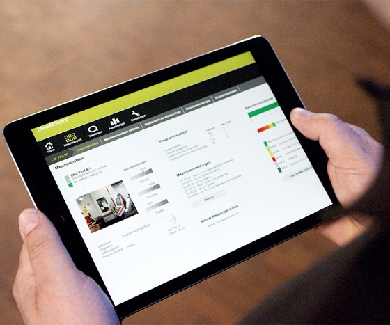 StateMonitor interface on a tablet