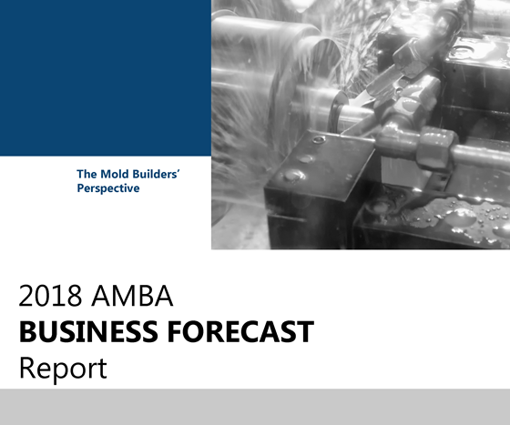 """""""2018 AMBA Business Forecast Report"""" cover."""