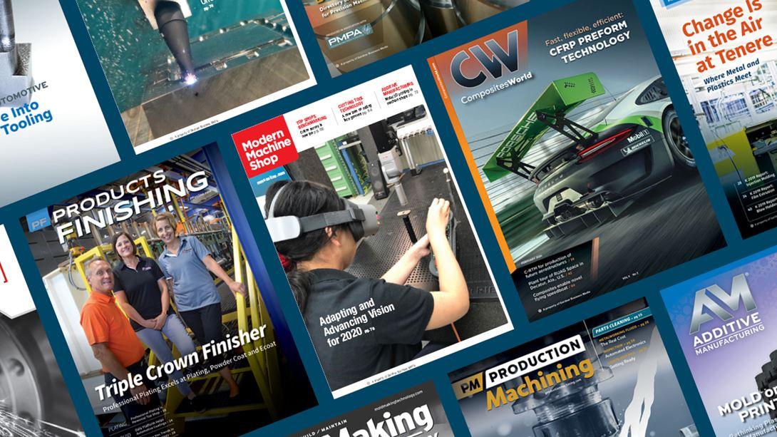 Gardner Business Media Magazine Cover Collage