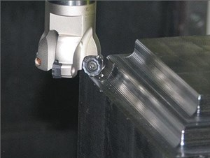 Serrated button inserts like Ingersoll's FormMaster Pro, shown here, can offer greater stability than a straight edge in particularly long-reach applications. However, there are trade-offs involved, and making the most of this technology requires carefully considering the details of each individual application.
