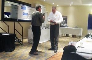 John Gilbert Receives Award at NE Surface Finishing Regional