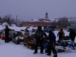 Snowmobiling for a Good Cause