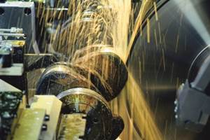 Advances in steady rest and in-process measurement technologies enable large crankshafts to be ground complete in one setup.