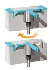 Flow Diverter Shuts Off Defective Cavities