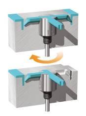 Flow Diverter Shuts Off Defective Cavities