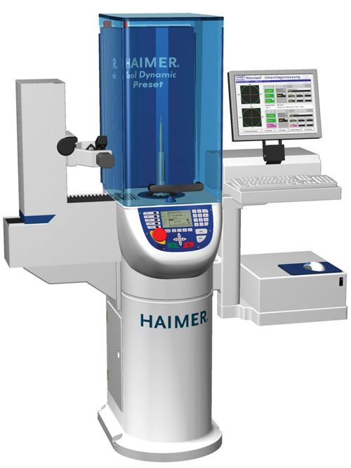 tool balancing machine and shrink fit system