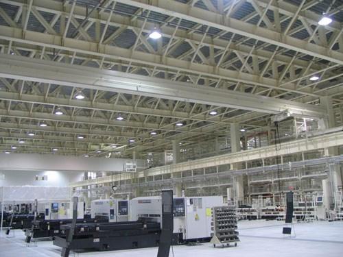 Interior Mazak Optonics plant Minokamo