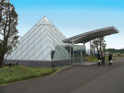 Main Entrance Mazak Optonics plant Minokamo