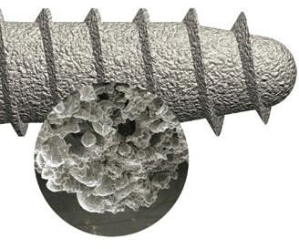 Sintered bone screw
