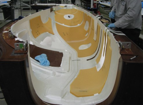 Right-side fuselage layup