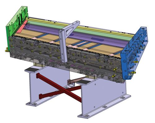 CAD model of primary mold