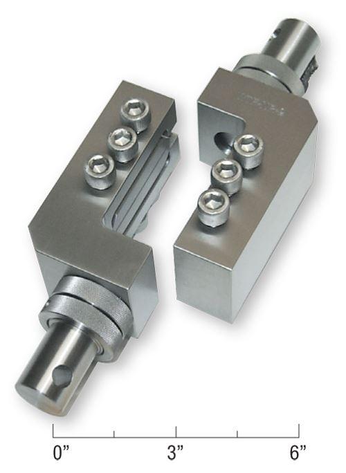 Fig 2 - V-notched rail shear test fixture
