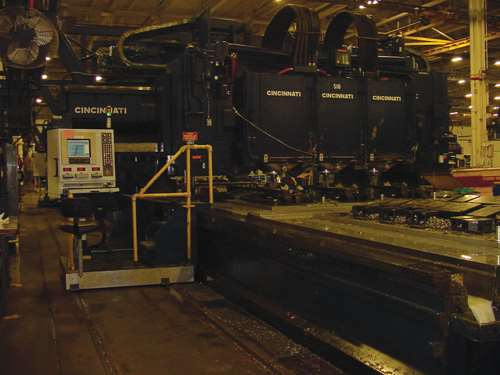 three-spindle gantry machines