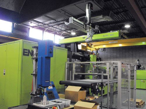 Engel robot and press.