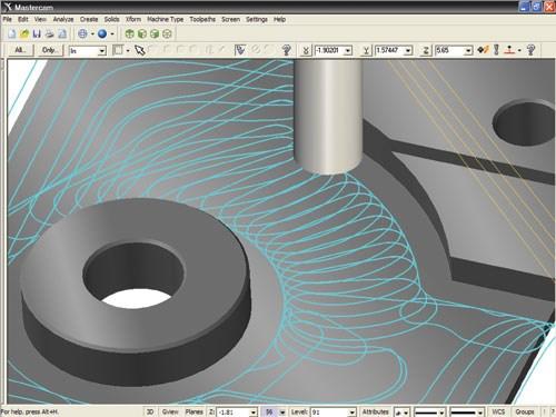 high efficiency machining toolpath