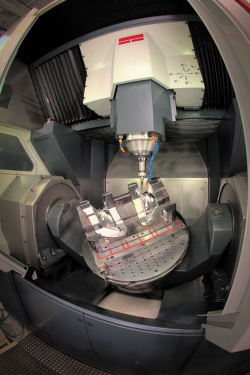 rmachines that tolt the work while keeping the spindle orientation fixed permits heavier milling cuts