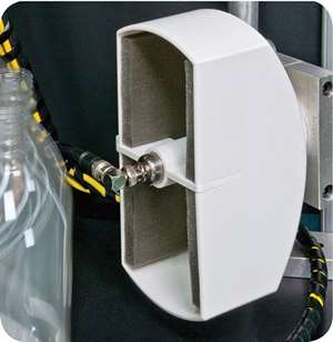 Compressed-air leak monitor from PTI for stretch-blow molding of bottles