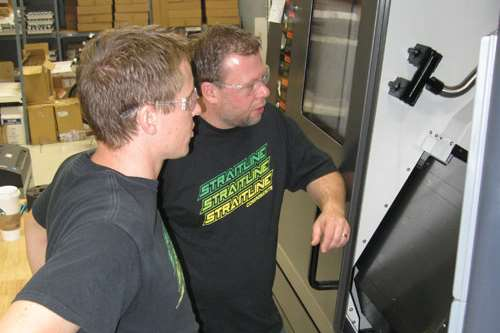 Brothers D.J. and Dennis Paulson, founders of Straitline Components