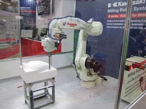 Kawasaki Robotics robotic milling system