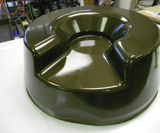 16-ply, 6K carbon fiber fabric, OOA-cured tool