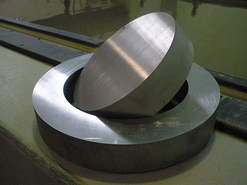thick stock cut with waterjet
