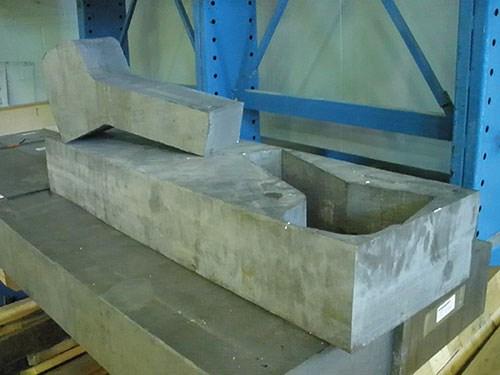 waterjet cut titanium part