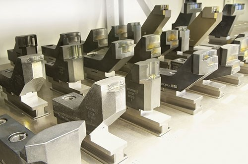 clamped workpieces