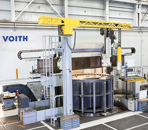Voith Hydro workpieces