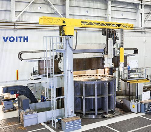 Voith Hydro workpieces