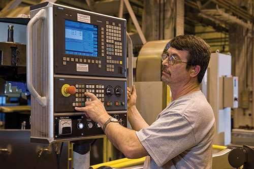 CNC on machine
