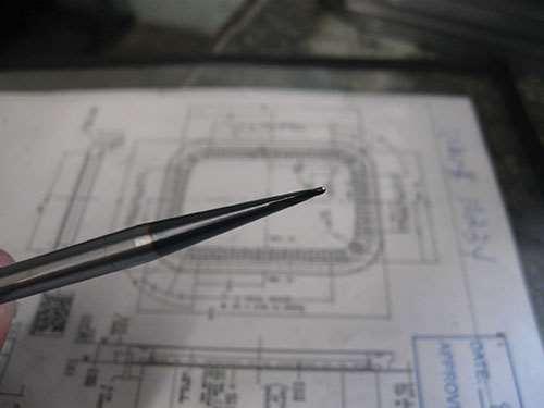 1/32-inch-radius end mill