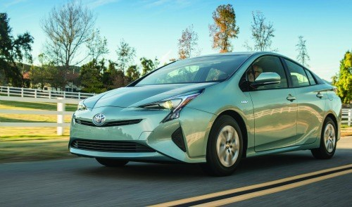 This is what the future looks like—except that the future is actually the production model 2016 Toyota Prius.  Which literally means the future is now.