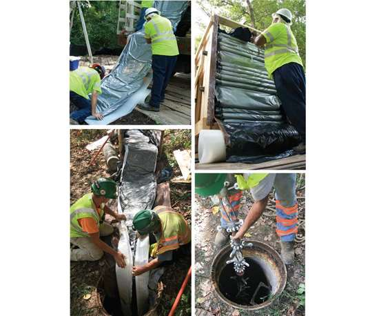 UV-curable underground pipe liners