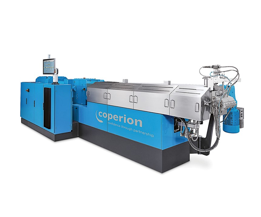 Coperion ZSK 58 Mc18 twin-screw corotating compounding extruder