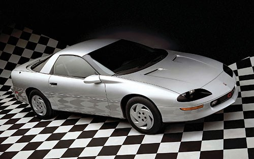 This is a 1995 Camaro, part of the fourth generation, which ran from model year 1993 to 2002.  What's interesting to note is that there wasn't a Camaro for eight years, until the Gen Five model came out for model year 2010.