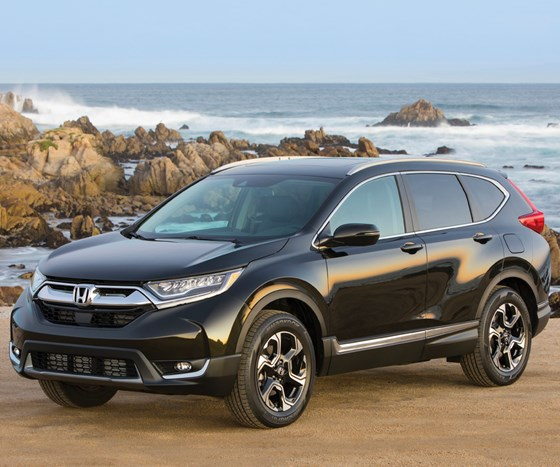 """The fifth-generation Honda CR-V. According to Honda the crossover has been the """"best-selling SUV of the past two decades."""" For this new model they'll be producing it in three factories in North America."""