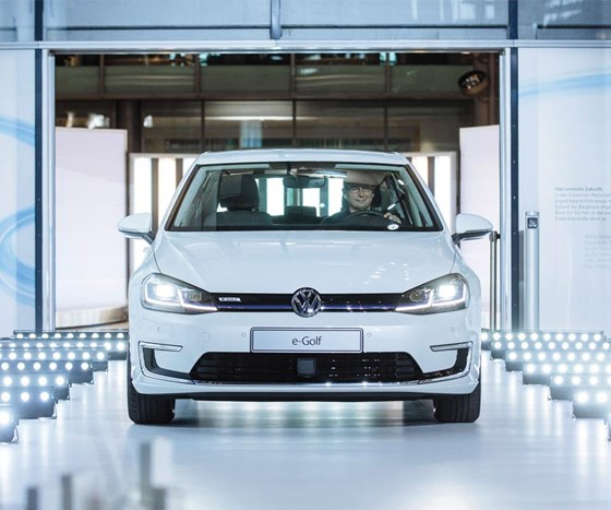 The new Volkswagen e-Golf will go into production at the Transparent Factory in Dresden in April.
