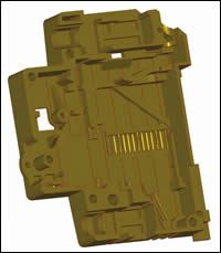Solid model of injection molded part