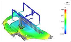 Mold filling simulation