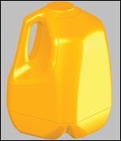 STL surface model of the gallon jug