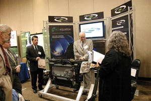 Meridian Green Car Conf booth