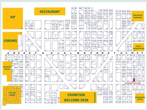 JEC Show Floor Map 2009